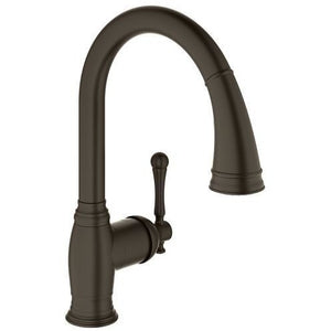 "Grohe 33870ZB1 Bridgeford oil rubbed bronze Single-lever sink mixer 1/2"" Kitchen Faucet - SpeedySinks"