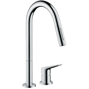 Hansgrohe AXOR Citterio M 2-Hole Kitchen Faucet, Pull-Down, in Chrome