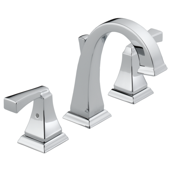 Delta Dryden Two Handle Widespread Lavatory Faucet in Chrome - Chariotwholesale
