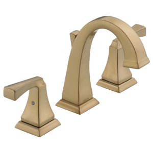 Delta Dryden Two Handle Widespread Lavatory Faucet in Champagne Bronze