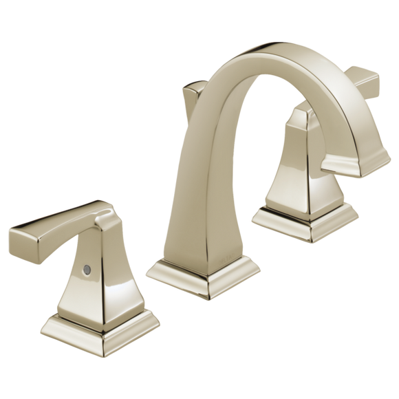 Delta Dryden Two Handle Widespread Lavatory Faucet in Polished Nickel