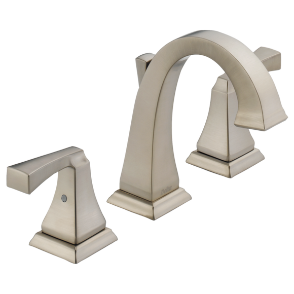 Delta Dryden Two Handle Widespread Lavatory Faucet in SpotShield Stainless