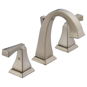 Delta Dryden Two Handle Widespread Lavatory Faucet in Stainless