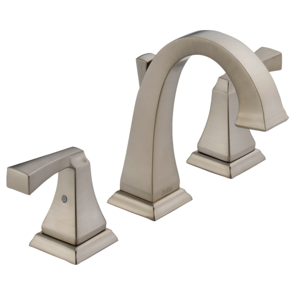 Delta Dryden Two Handle Widespread Lavatory Faucet in Stainless - SpeedySinks