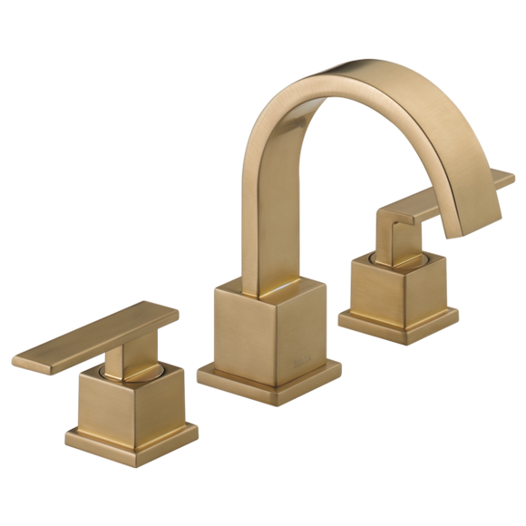 Delta Vero Two Handle Widespread Lavatory Faucet in Champagne Bronze - SpeedySinks