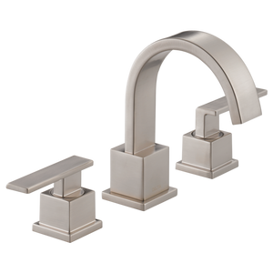 Delta Vero Two Handle Widespread Lavatory Faucet in Stainless