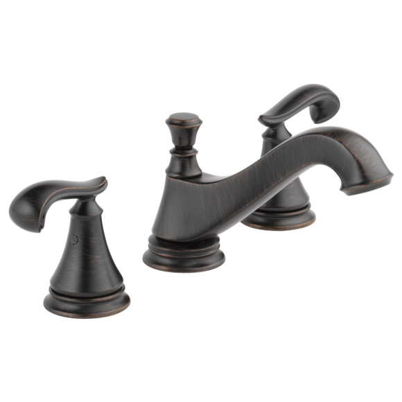 Delta Cassidy Two Handle Widespread Lavatory Faucet - Low Arc Spout in Venetian Bronze