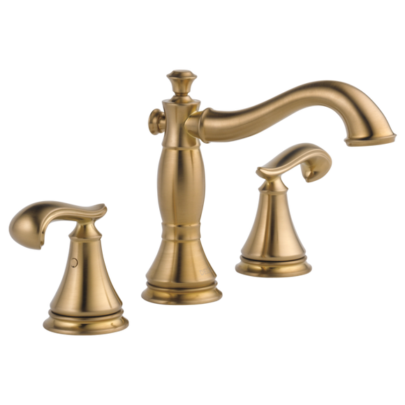 Delta Cassidy Two Handle Widespread Lavatory Faucet in Champagne Bronze - SpeedySinks