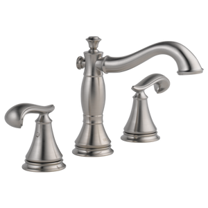 Delta Cassidy Two Handle Widespread Lavatory Faucet in Stainless - SpeedySinks