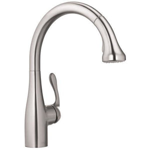 Hansgrohe 04066860 Allegro E Gourmet Steel Optik 2-Spray HighArc Kitchen Faucet, Pull-Down - SpeedySinks