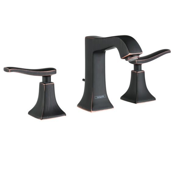 Hansgrohe Metris C Widespread Faucet, 1.2 GPM in Rubbed Bronze