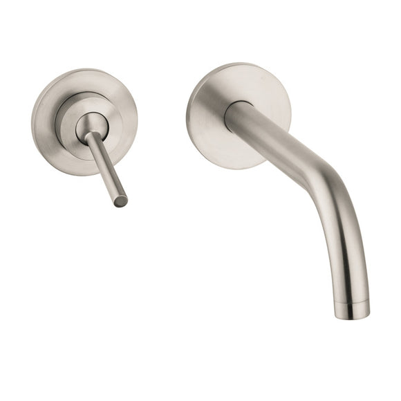Hansgrohe AXOR Uno Wall-Mounted Single-Handle Faucet in Brushed Nickel