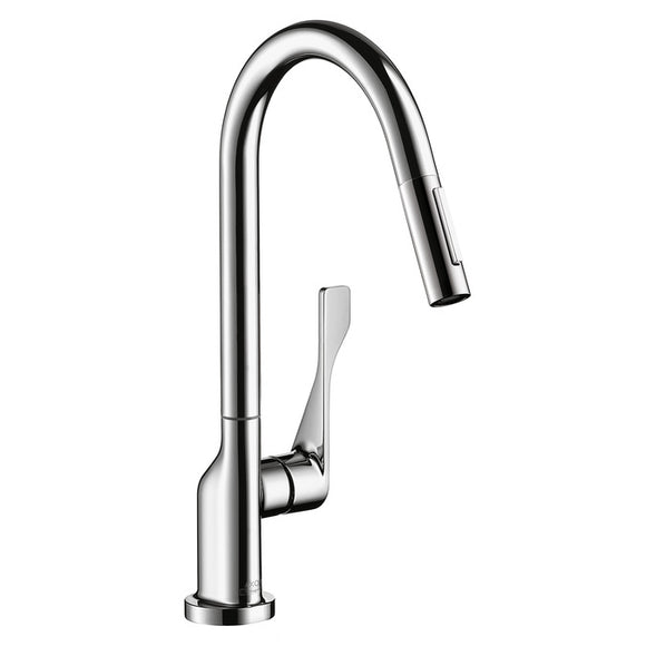 Hansgrohe AXOR Citterio 2-Spray HighArc Kitchen Faucet, Pull-Down, in Chrome - SpeedySinks