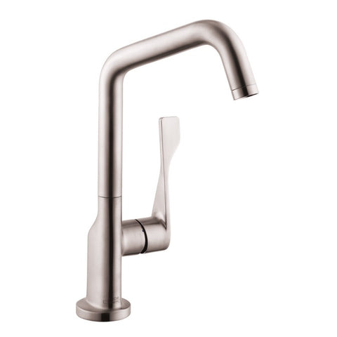 Hansgrohe Axor Citterio 1-Spray Kitchen Faucet in Steel Optic
