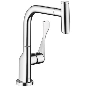 Hansgrohe AXOR Citterio Select 1-Spray Kitchen Faucet, Pull-Out, in Chrome - SpeedySinks