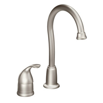 Moen Camerist One-Handle High Arc Bar Faucet in Spot Resist Stainless