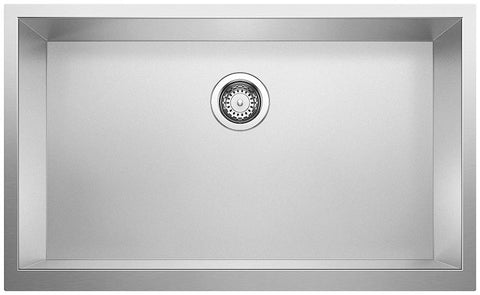 Blanco R0 Precision Durinox Apron Front Stainless Steel Single Bowl Kitchen Sink - SpeedySinks