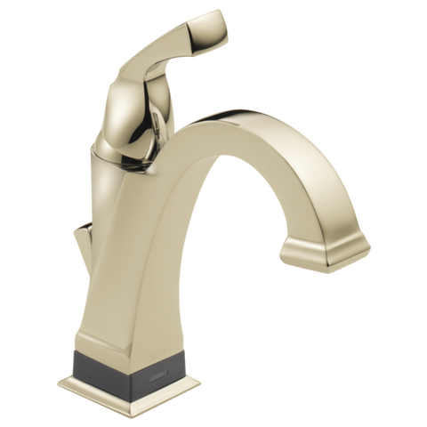 Delta Dryden Single Handle Lavatory Faucet with Touch2O.xt Technology in Polished Nickel