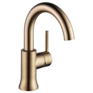 Delta Trinsic Single Handle High-Arc Lavatory Faucet in Champagne Bronze - SpeedySinks