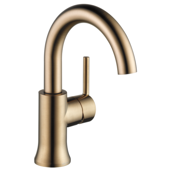 Delta Trinsic Single Handle High-Arc Lavatory Faucet in Champagne Bronze