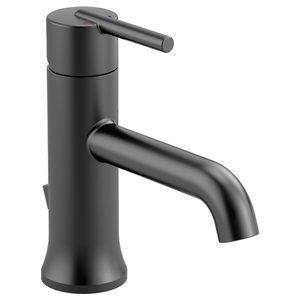 Delta Trinsic Single Handle Lavatory Faucet in Matte Black - Chariotwholesale