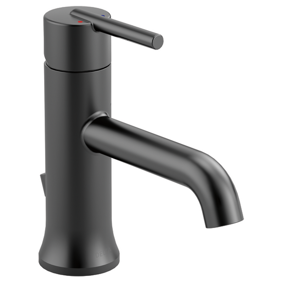 Delta Trinsic Single Handle Lavatory Faucet in Matte Black - SpeedySinks