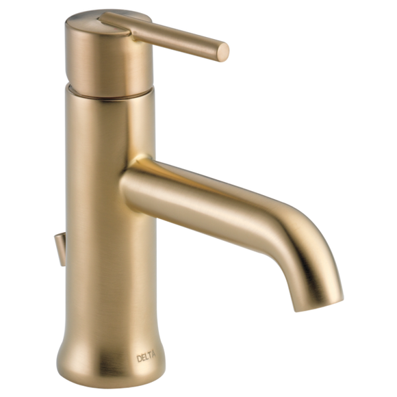 Delta Trinsic Single Handle Lavatory Faucet in Champagne Bronze