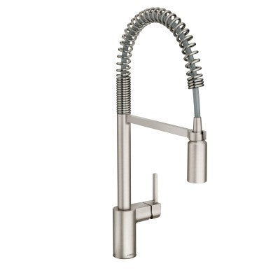 Moen Align One Handle Pre-Rinse Spring Pulldown Kitchen Faucet in Spot Resist Stainless