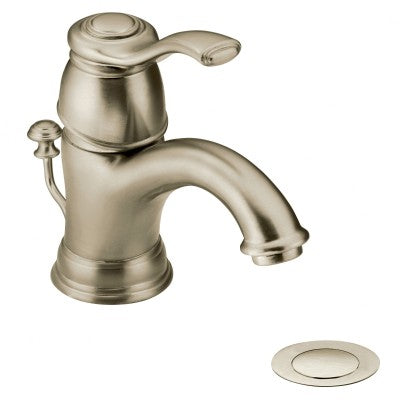 Moen Kingsley One-Handle Low Arc Bathroom Faucet in Brushed Nickel - Chariotwholesale