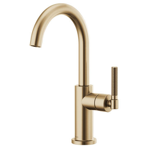 Brizo Litze Bar Faucet with Knurled Handle in Luxe Gold - SpeedySinks