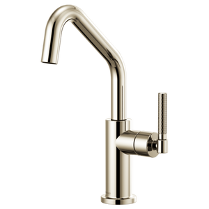 Brizo Litze Bar Faucet with Angled Spout and Knurled Handle in Polished Nickel - SpeedySinks