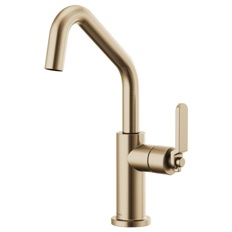 Brizo Litze Bar Faucet with Angled Spout and Industrial Handle in Luxe Gold - SpeedySinks