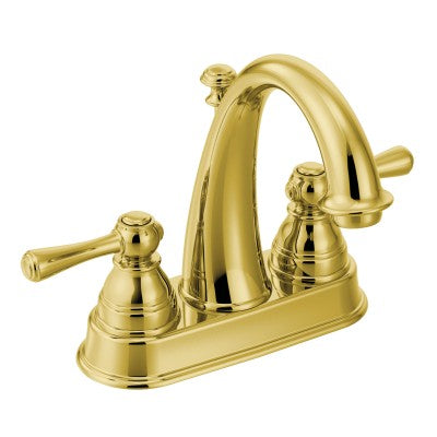 Moen Kingsley Two-Handle High Arc Bathroom Faucet in Polished Brass