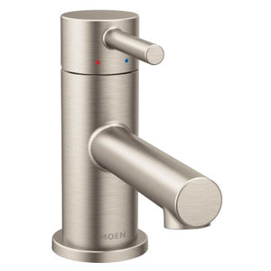 Moen Align One Handle Low Arc Low Profile Bathroom Faucet in Brushed Nickel - SpeedySinks