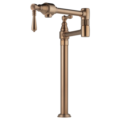 Brizo Traditional Deck Mount Pot Filler in Brilliance Brushed Bronze - SpeedySinks