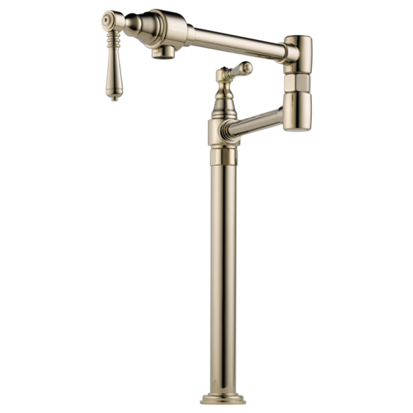 Brizo Traditional Deck Mount Pot Filler in Polished Nickel - SpeedySinks