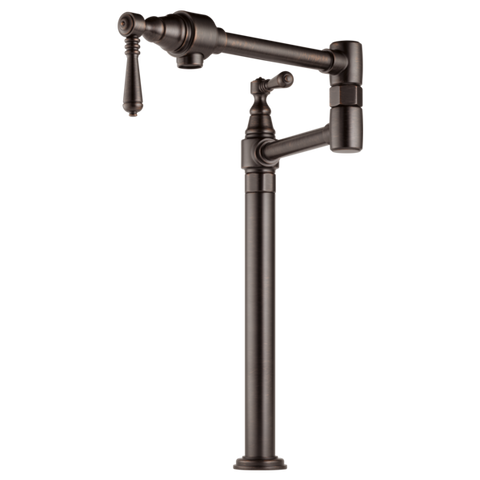 Brizo Traditional Deck Mount Pot Filler in Venetian Bronze - SpeedySinks