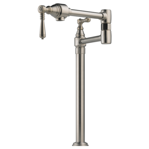 Brizo Traditional Deck Mount Pot Filler in Stainless - SpeedySinks