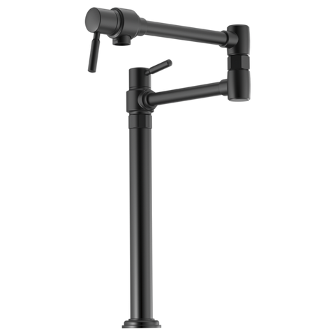 Brizo Euro Deck Mount Pot Filler in Matte Black - SpeedySinks