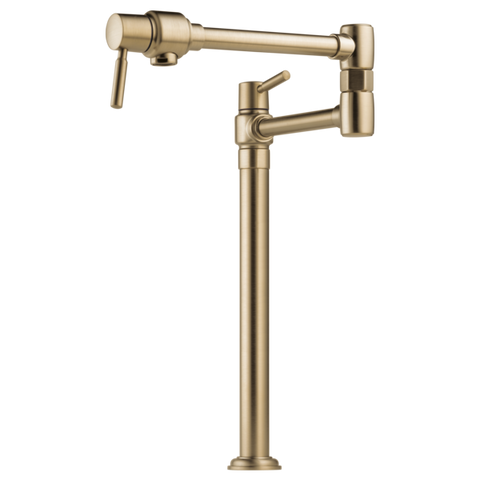 Brizo Euro Deck Mount Pot Filler in Luxe Gold - SpeedySinks