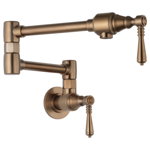 Brizo Traditional Wall Mount Pot Filler in Brilliance Brushed Bronze - SpeedySinks