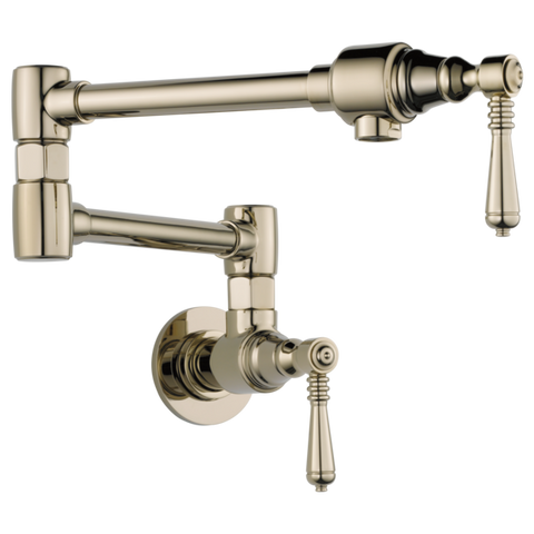 Brizo Traditional Wall Mount Pot Filler in Polished Nickel - SpeedySinks