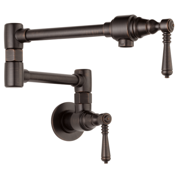 Brizo Traditional Wall Mount Pot Filler in Venetian Bronze - SpeedySinks