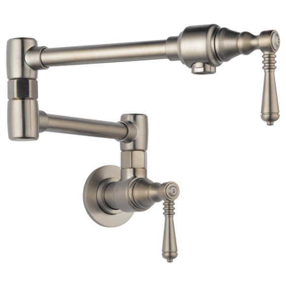 Brizo Traditional Wall Mount Pot Filler in Stainless - SpeedySinks