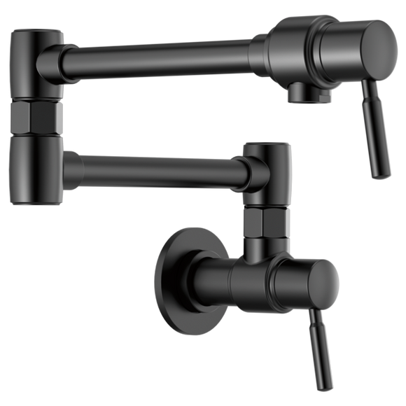 Brizo Euro Wall Mount Pot Filler in Matte Black - SpeedySinks
