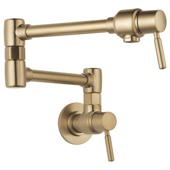 Brizo Euro Wall Mount Pot Filler in Luxe Gold - SpeedySinks
