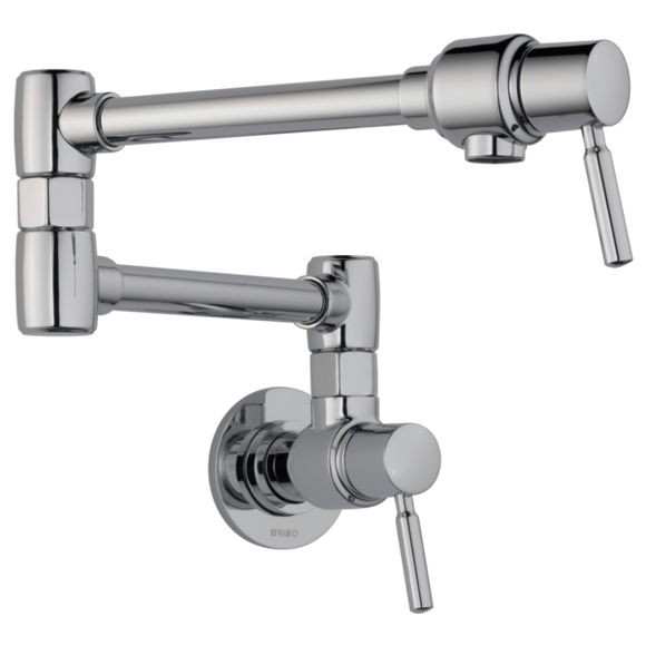 Brizo Euro Wall Mount Pot Filler in Chrome - SpeedySinks