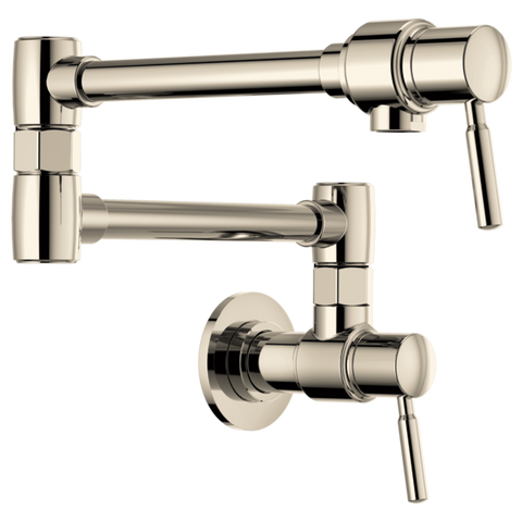 Brizo Euro Wall Mount Pot Filler in Polished Nickel - SpeedySinks