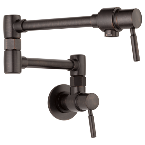 Brizo Euro Wall Mount Pot Filler in Venetian Bronze - SpeedySinks