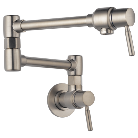 Brizo Euro Wall Mount Pot Filler in Stainless - SpeedySinks